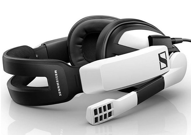 Best Gaming Headsets of 2018 - White Sennheiser GSP 300 gaming headset under $100 - SoundsightR headphone reviews-min